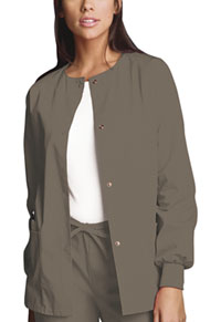 Snap Front Warm-Up Jacket Taupe (4350-TAUW)