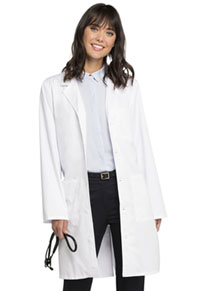 Cherokee Workwear 38 Unisex Lab Coat White (4403-WHTV)