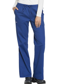 Cherokee Workwear Mid Rise Moderate Flare Drawstring Pant Galaxy Blue (44101A-GAB)
