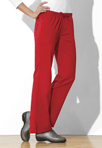 Cherokee Workwear Mid Rise Moderate Flare Drawstring Pant Red (44101A-REDW)