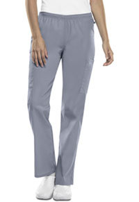 Cherokee Workwear Mid Rise Straight Leg Elastic Waist Pant Grey (44200A-GRYW)