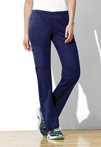 Mid Rise Straight Leg Elastic Waist Pant (44200A-NAVW)