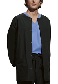 Cherokee Workwear Men's Snap Front Warm-Up Jacket Black (4450-BLKW)