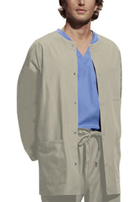 Cherokee Workwear Men's Snap Front Warm-Up Jacket Khaki (4450-KAKW)