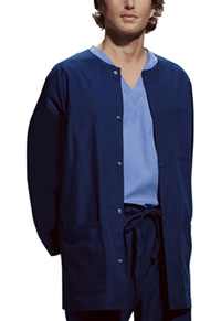 Cherokee Workwear Men's Snap Front Warm-Up Jacket Navy (4450-NAVW)