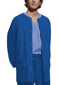Men's Snap Front Warm-Up Jacket (4450-ROYW)