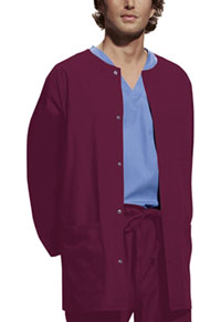 Cherokee Workwear Men's Snap Front Warm-Up Jacket Wine (4450-WINW)