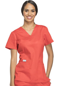 Cherokee Workwear V-Neck Top Hot Lava (44700A-HTLW)