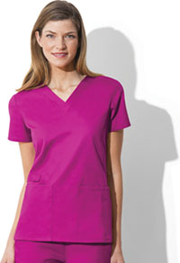 Cherokee Workwear V-Neck Top Shocking Pink (44700A-SHPW)
