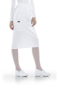 Cherokee Workwear 30 Drawstring Skirt White (4509-WHTW)