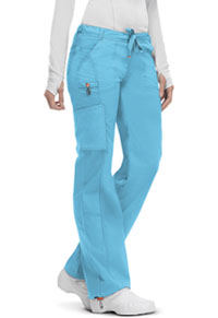 Code Happy Low Rise Straight Leg Drawstring Pant Turquoise (46000A-TQCH)