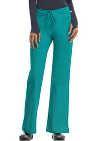 Mid Rise Moderate Flare Drawstring Pant Teal (46002A-TLCH)