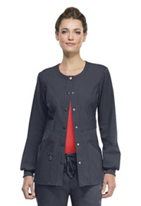 Code Happy Snap Front Warm-up Jacket Pewter (46300AB-PWCH)
