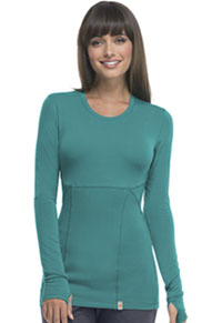 Code Happy Long Sleeve Underscrub Knit Tee Teal (46608A-TLCH)