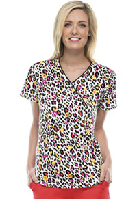 Code Happy V-Neck Top Wild Cheetah (46612A-WILH)