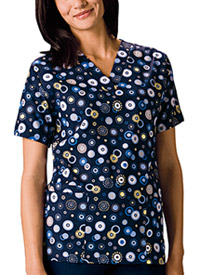 Scrub HQ V-Neck Top Dot's Wonderful (4700C-DWON)