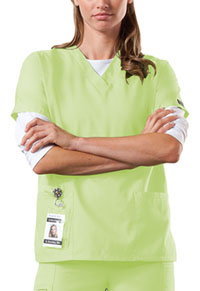 Cherokee Workwear V-Neck Top Celadon (4700-CELW)