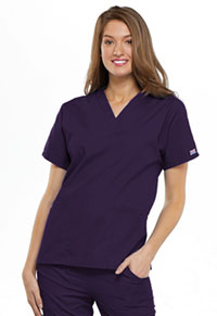Cherokee Workwear V-Neck Top Eggplant (4700-EGGW)