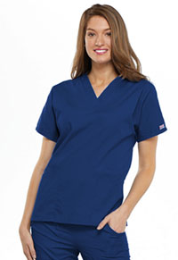 Cherokee Workwear V-Neck Top Galaxy Blue (4700-GABW)