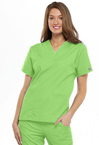 Cherokee Workwear V-Neck Top Lime Green (4700-LMGW)