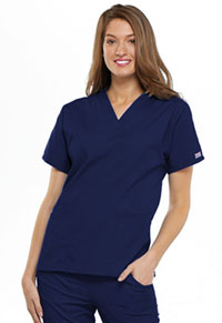 Cherokee Workwear V-Neck Top Navy (4700-NAVW)