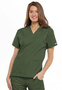 Cherokee Workwear V-Neck Top Olive (4700-OLVW)