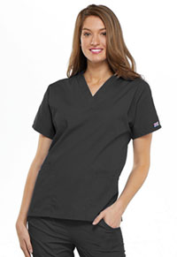 Cherokee Workwear V-Neck Top Pewter (4700-PWTW)