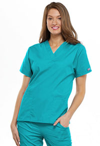 Cherokee Workwear V-Neck Top Turquoise (4700-TRQW)