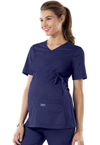 Cherokee Workwear Maternity V-Neck Knit Panel Top Navy (4708-NAVW)