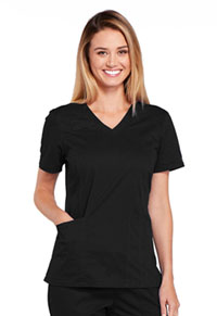 Cherokee Workwear V-Neck Top Black (4710-BLKW)