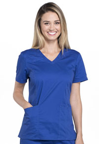 Cherokee Workwear V-Neck Top Galaxy Blue (4710-GABW)