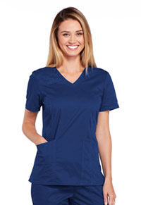 Cherokee Workwear V-Neck Top Navy (4710-NAVW)