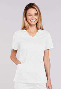 Cherokee Workwear V-Neck Top White (4710-WHTW)