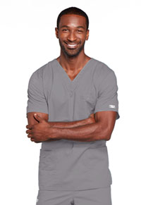 Cherokee Workwear Unisex V-Neck Top Grey (4725-GRYW)