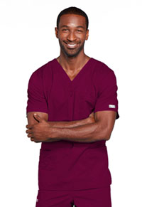 Cherokee Workwear Unisex V-Neck Top Wine (4725-WINW)