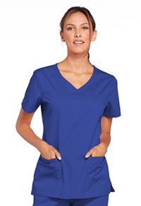 Cherokee Workwear V-Neck Top Galaxy Blue (4727-GABW)