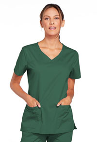 Cherokee Workwear V-Neck Top Hunter (4727-HUNW)
