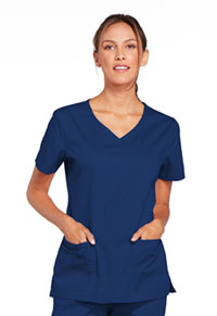Cherokee Workwear V-Neck Top Navy (4727-NAVW)