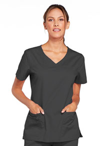 Cherokee Workwear V-Neck Top Pewter (4727-PWTW)