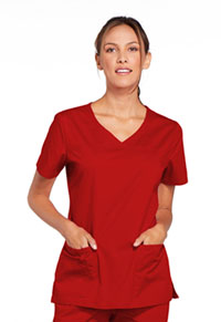 WW Core Stretch V-Neck Top (4727-REDW) (4727-REDW)