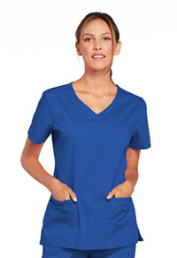 Cherokee Workwear V-Neck Top Royal (4727-ROYW)