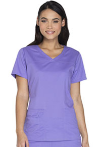 Cherokee Workwear V-Neck Top Vivid Violet (4727-VDVO)
