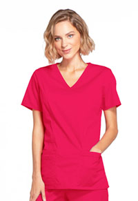 Cherokee Workwear Mock Wrap Top Fruit Punch (4728-FTP)