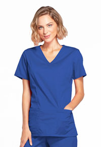 Cherokee Workwear Mock Wrap Top Galaxy Blue (4728-GABW)