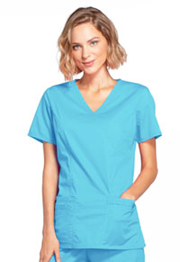 WW Core Stretch Mock Wrap Top (4728-TRQW) (4728-TRQW)