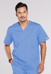 Cherokee Workwear Men's Tuckable V-Neck Top Ciel (4743-CIEW)