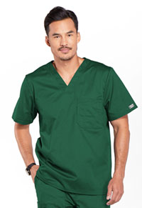 Cherokee Workwear Men's Tuckable V-Neck Top Hunter (4743-HUNW)
