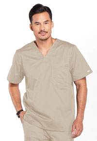 Cherokee Workwear Men's Tuckable V-Neck Top Khaki (4743-KAKW)