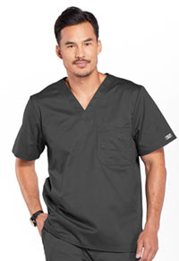 Cherokee Workwear Men's V-Neck Top Pewter (4743-PWTW)