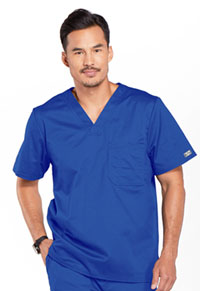 Cherokee Workwear Men's Tuckable V-Neck Top Royal (4743-ROYW)